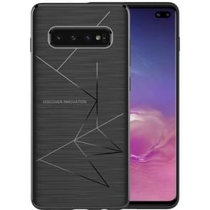 NILLKIN Rhombus Texture TPU Protective Back Cover Case for Galaxy S10 Plus (Black)