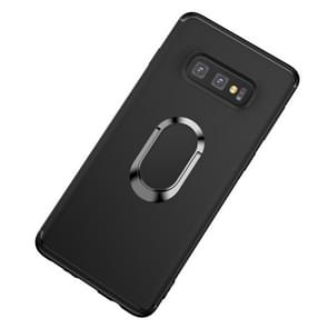 Shockproof TPU Full Protective Case for Galaxy S10 E, with 360 Degree Rotation Holder (Black)
