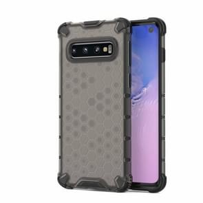 Honeycomb Shockproof PC + TPU Case for Galaxy S10 (Black)