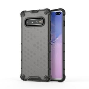 Honeycomb Shockproof PC + TPU Case for Galaxy S10+ (Black)