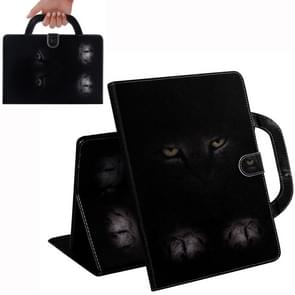 Cat Pattern Horizontal Flip Leather Case for Galaxy Tab S5E 10.5 T720 / T725, with Holder & Card Slot & Wallet