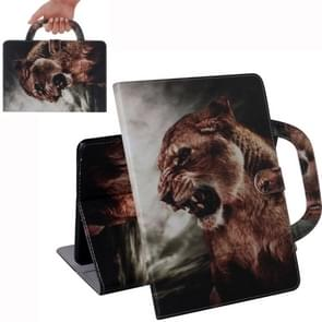 Lion Pattern Horizontal Flip Leather Case for Galaxy Tab S5E 10.5 T720 / T725, with Holder & Card Slot & Wallet