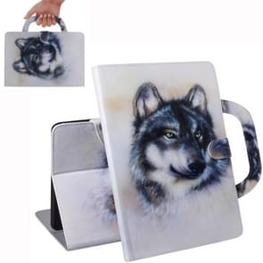 Wolf Pattern Horizontal Flip Leather Case for Galaxy Tab S5E 10.5 T720 / T725, with Holder & Card Slot & Wallet