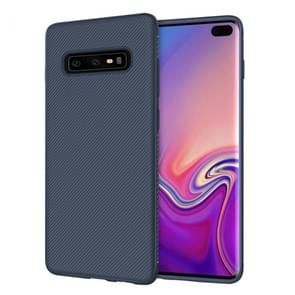 lenuo Leshen Series Stripe Texture TPU Case for Galaxy S10 (Blue)