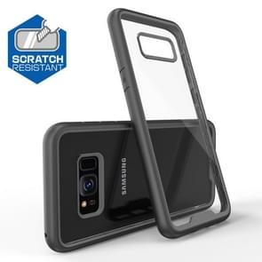Two-color Anti-drop Acrylic PC Protective Case for Galaxy S8 (Black)