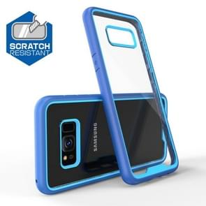 Two-color Anti-drop Acrylic PC Protective Case for Galaxy S8 (Blue)