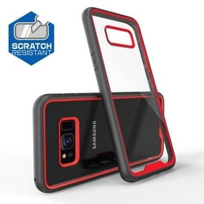 Two-color Anti-drop Acrylic PC Protective Case for Galaxy S8 (Red)