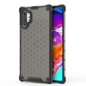 Shockproof Honeycomb PC + TPU Case for Galaxy Note 10+ (Black)