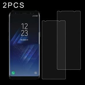 2 PCS for Galaxy S8 + / G9550 0.26mm 9H Surface Hardness Explosion-proof Non-full Screen Tempered Glass Screen Film