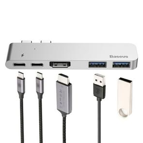 Baseus 5 in 1 Type-C HUB Multiport Adapter Station Dock with 4K HDMI & 2 USB 3.0 Ports & 2 Type-C Female, For Galaxy S9 & S9 + & S8 & S8 + & Note 8 / HTC 10 / Huawei Mate 10 & Mate 10 Pro & P20 & P20 Pro / MacBook 12 inch / MacBook Pro