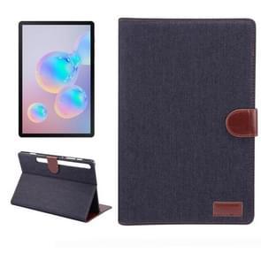 Voor Galaxy tab S6 10 5 T860 Dibase textuur PC horizontale Flip lederen beschermhoes met houder & kaartsleuven & portemonnee & fotolijstjes (zwart)
