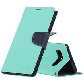 MERCURY GOOSPERY FANCY DIARY Horizontal Flip PU Leather Case for Galaxy S10, with Holder & Card Slots & Wallet (Mint Green)