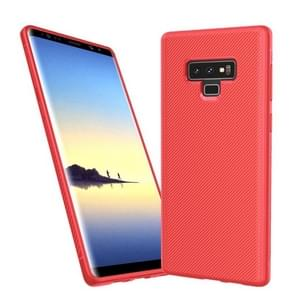 lenuo Leshen Series Stripe Texture TPU Case for Galaxy Note9(Red)