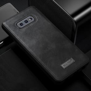 SULADA schokbestendige TPU + handgemaakte lederen case voor Galaxy S10e (zwart)