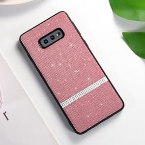 SULADA glitter poeder diamant TPU geval voor Galaxy S10e (roze)