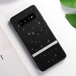 SULADA Glitter Powder Diamond TPU Case for Galaxy S10+ (Black)