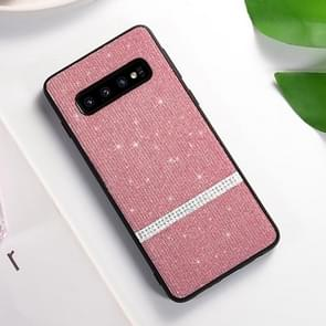 SULADA Glitter Powder Diamond TPU Case for Galaxy S10+ (Pink)