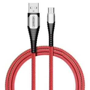 JOYROOM S-M367 Simple Series  Micro USB Interface Aluminum Alloy Braid LED-lightning Snake Shape Data Cable, Length: 1.2m(Red)