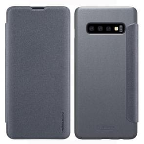 NILLKIN Frosted Texture Horizontal Flip Leather Case for Galaxy S10 (Grey)