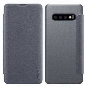 NILLKIN Frosted Texture Horizontal Flip Leather Case for Galaxy S10 Plus (Grey)