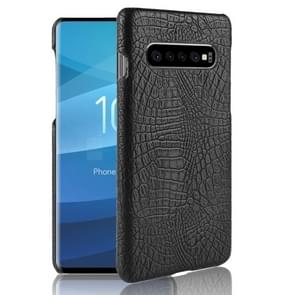 Shockproof Crocodile Texture PC + PU Case for Galaxy S10 5G (Black)