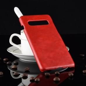 Shockproof Litchi Texture PC + PU Case for Galaxy S10 5G (Red)