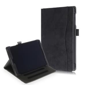 Koeienhuid textuur horizontale Flip lederen case voor Galaxy tab een 10 1 (2019) T510/T515  met houder (zwart)