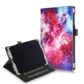 Cowhide Texture Galaxy Pattern Colored Drawing Horizontal Flip Leather Case for Galaxy Tab A 10.1 (2019) T510 / T515, with Holder