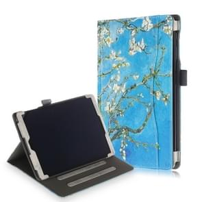 Koeienhuid textuur abrikoos patroon gekleurde tekening horizontale Flip lederen case voor Galaxy tab een 10 1 (2019) T510/T515  met houder