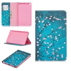 Colored Drawing Plum Blossom Pattern Horizontal Flip Leather Case for Galaxy Tab A 8 (2019) P200 / P205, with Holder & Card Slots & Wallet