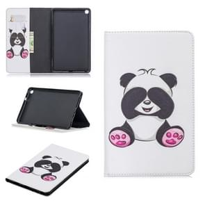 Colored Drawing Panda Pattern Horizontal Flip Leather Case for Galaxy Tab A 8 (2019) P200 / P205, with Holder & Card Slots & Wallet
