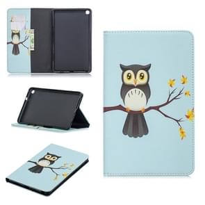 Colored Drawing Eagle on The Tree Pattern Horizontal Flip Leather Case for Galaxy Tab A 8 (2019) P200 / P205, with Holder & Card Slots & Wallet