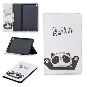 Colored Drawing Hello Panda Pattern Horizontal Flip Leather Case for Galaxy Tab A 8 (2019) P200 / P205, with Holder & Card Slots & Wallet