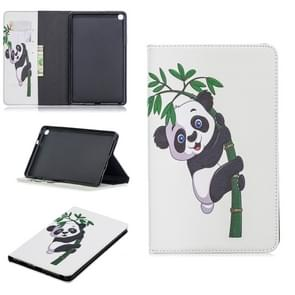 Colored Drawing Panda and Bamboo Pattern Horizontal Flip Leather Case for Galaxy Tab A 8 (2019) P200 / P205, with Holder & Card Slots & Wallet