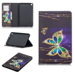 Colored Drawing Big Butterfly Pattern Horizontal Flip Leather Case for Galaxy Tab A 8 (2019) P200 / P205, with Holder & Card Slots & Wallet