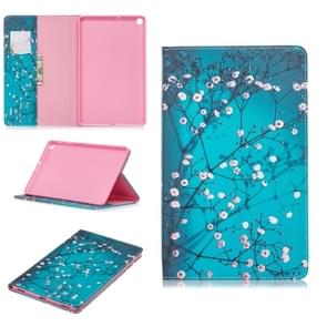 Colored Drawing Plum Blossom Pattern Horizontal Flip Leather Case for Galaxy Tab A 10.1 (2019) T510 / T515, with Holder & Card Slots & Wallet