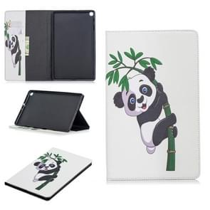 Colored Drawing Panda and Bamboo Pattern Horizontal Flip Leather Case for Galaxy Tab A 10.1 (2019) T510 / T515, with Holder & Card Slots & Wallet
