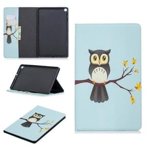 Colored Drawing Eagle on The Tree Pattern Horizontal Flip Leather Case for Galaxy Tab A 10.1 (2019) T510 / T515, with Holder & Card Slots & Wallet