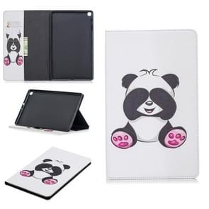 Colored Drawing Panda Pattern Horizontal Flip Leather Case for Galaxy Tab A 10.1 (2019) T510 / T515, with Holder & Card Slots & Wallet