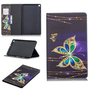 Colored Drawing Big Butterfly Pattern Horizontal Flip Leather Case for Galaxy Tab A 10.1 (2019) T510 / T515, with Holder & Card Slots & Wallet