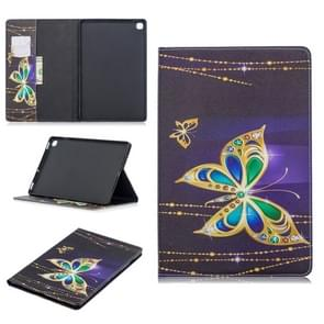 Colored Drawing Big Butterfly Pattern Horizontal Flip Leather Case for Galaxy Tab S5e 10.5 T720 / T725, with Holder & Card Slots & Wallet