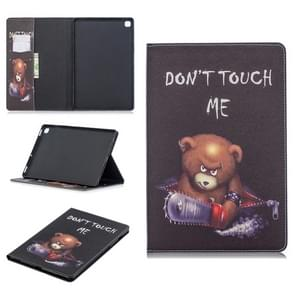 Colored Drawing Bear Pattern Horizontal Flip Leather Case for Galaxy Tab S5e 10.5 T720 / T725, with Holder & Card Slots & Wallet