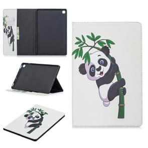 Colored Drawing Panda and Bamboo Pattern Horizontal Flip Leather Case for Galaxy Tab S5e 10.5 T720 / T725, with Holder & Card Slots & Wallet