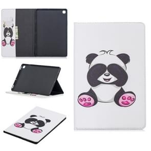 Colored Drawing Panda Pattern Horizontal Flip Leather Case for Galaxy Tab S5e 10.5 T720 / T725, with Holder & Card Slots & Wallet