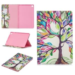 Colored Drawing Tree of Life Pattern Horizontal Flip Leather Case for Galaxy Tab S5e 10.5 T720 / T725, with Holder & Card Slots & Wallet