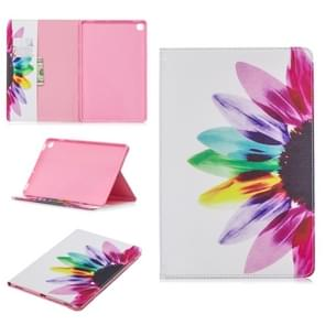 Colored Drawing Sunflower Pattern Horizontal Flip Leather Case for Galaxy Tab S5e 10.5 T720 / T725, with Holder & Card Slots & Wallet