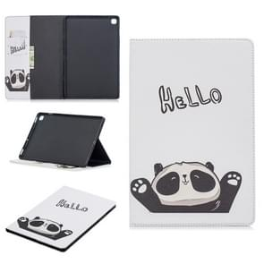 Colored Drawing Hello Panda Pattern Horizontal Flip Leather Case for Galaxy Tab S5e 10.5 T720 / T725, with Holder & Card Slots & Wallet