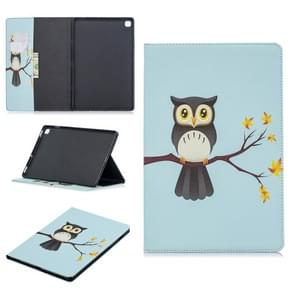 Colored Drawing Eagle on The Tree Pattern Horizontal Flip Leather Case for Galaxy Tab S5e 10.5 T720 / T725, with Holder & Card Slots & Wallet