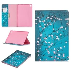 Colored Drawing Plum Blossom Pattern Horizontal Flip Leather Case for Galaxy Tab S5e 10.5 T720 / T725, with Holder & Card Slots & Wallet