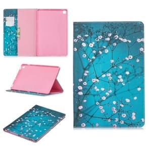 Gekleurde tekening pruim bloesem patroon horizontale Flip lederen case voor Galaxy tab S5e 10 5 T720/T725  met houder & card slots & portemonnee